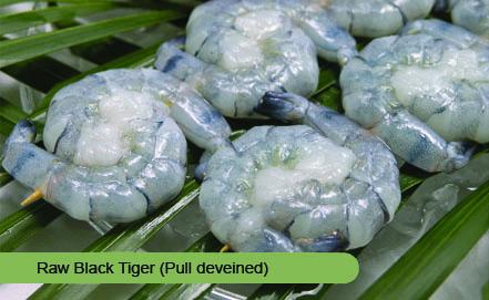 Raw Black Tiger Shrimp
